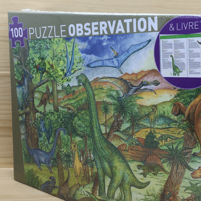 Puzzle + libro Dinosaurios 100 piezas