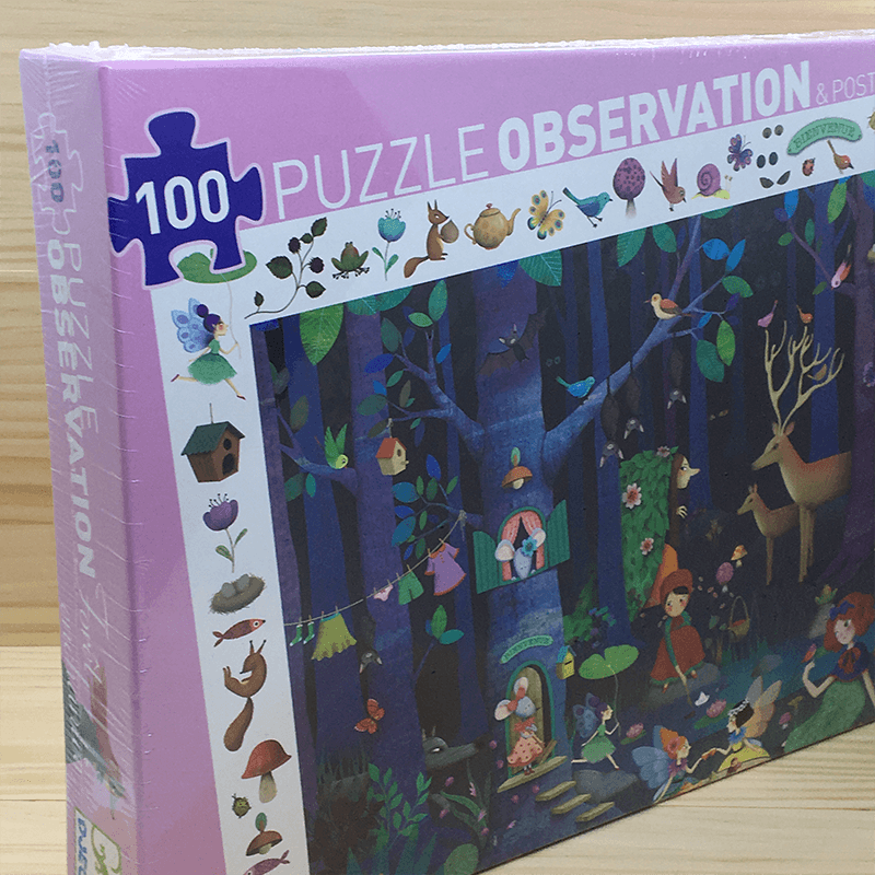 Puzzle Observación Bosque 100 piezas
