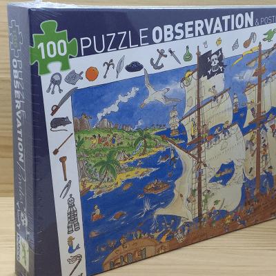 Puzzle Observación Piratas 100 piezas
