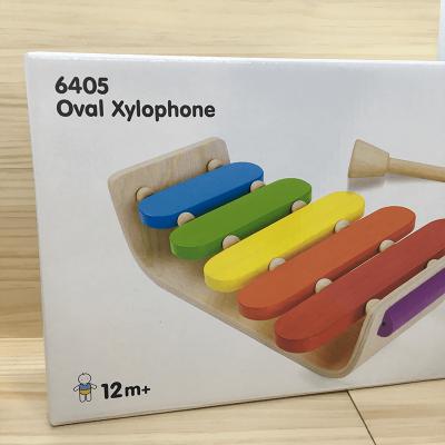 Xilófono de madera ovalado