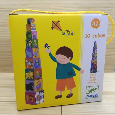 Cubos apilables de cartón Divertidos