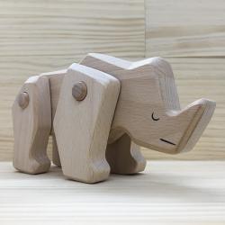 Figura Rinoceronte de madera