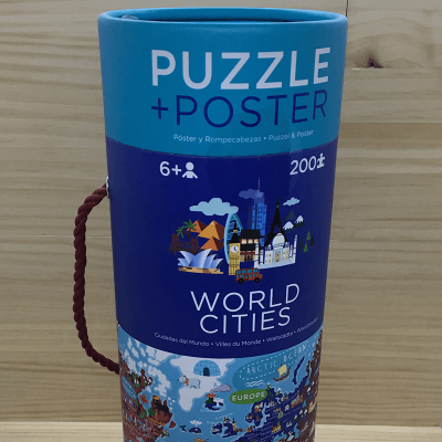 Puzzle World Cities 200 piezas